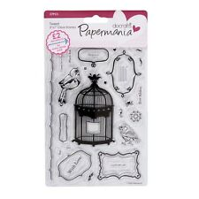 TWEET - PAPERMANIA / DOCRAFTS - CLEAR STAMP SET