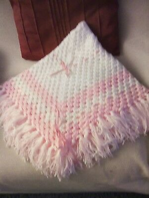Hand Made Crochet Hand Made Baby Shawl/blanket Sophisticated Technologies Nursery Bedding