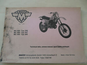 Maico-MC-250-MC-400-MC-440-Typ-346-348-Technical-data-Handbuch-Parts-Catalog
