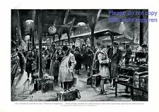 Zug Verspätung nach Berlin XL Kunstdruck 1929 von Lipus Zugverspätung Bahnhof