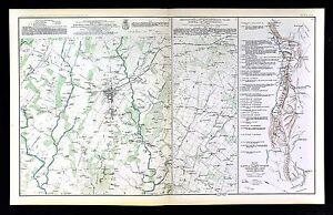 Mapa de guerra civil-Gettysburg campo de batalla ...