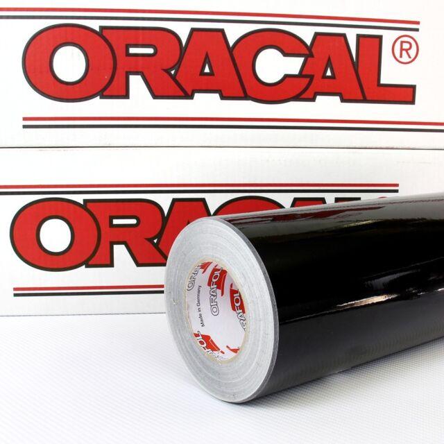 (3,55€/m²) Plotterfolie SCHWARZ Oracal 621 glänzend 63x500cm FABRIKFRISCH 070