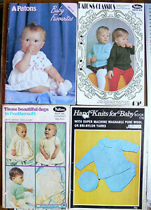 BABY-Knitting-Dress-Cardigans-Jumpers-Hats-4-5-amp-8-Ply-4-Book-Choice-B1