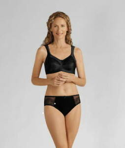delicate colors cheap for discount size 40 Details about NEW amoena Isadora Non Underwire Mastectomy Bra black 44114