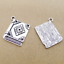 Jewelry Findings,Charms​,Pendants,Tibet​an Silver 8pcs Books
