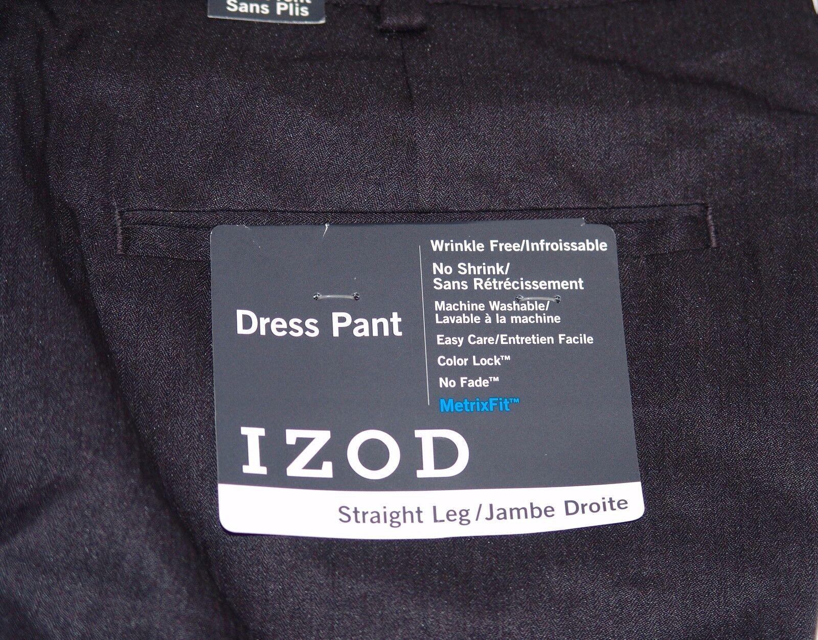 Izod Uomo Nuova con Etichetta Etichetta Etichetta Pantaloni Eleganti 32 x 30 Piani Anteriori 8fa017