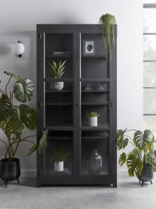Cox & Cox Living Room Modern Black Pine Raven Large Norway Cabinet - RRP £1200