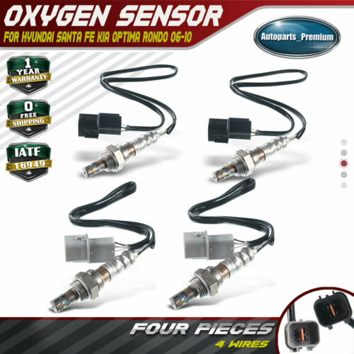 4x Up+Downstream Oxygen Sensor for Hyundai Santa Fe 07-09 Kia Optima 06-10 Rondo