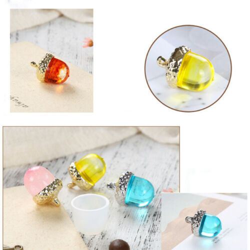 DIY Silicone Molds Acorn Resin Casting Jewelry Making Moulds Epoxy Pendants 3D