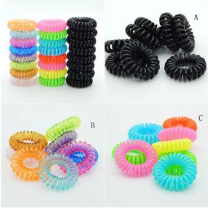 10 Pcs Plastic Hair Ties Spiral Hair Ties No Crease Coil Hair Tie ... 5625db9b2a1