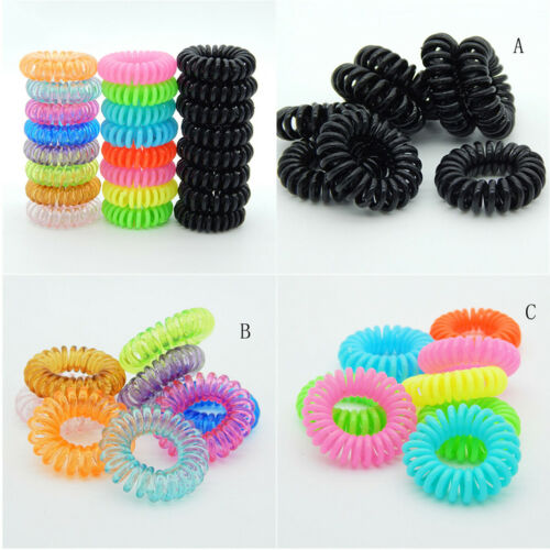 10 Pcs Plastic Hair Ties Spiral Hair Ties No Crease Coil Hair Tie Ponytail G NMU