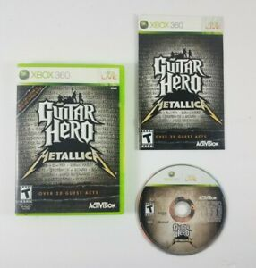 Guitar-Hero-Metallica-Microsoft-Xbox-360-2009-Complete-Case-Disc-and-Manual