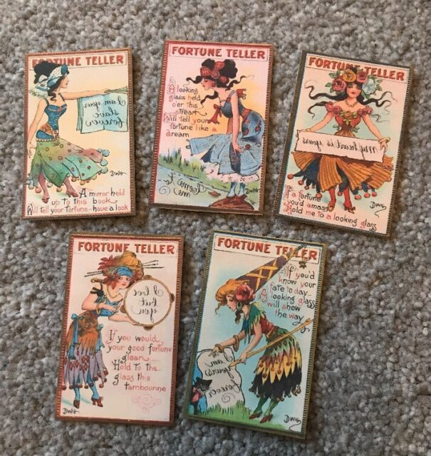 vintage halloween fortune teller cards party favour decoration