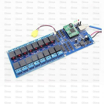USR-R16-T Industrial Ethernet Relay 16 Channel Output Relay TCP/IP Relay Module