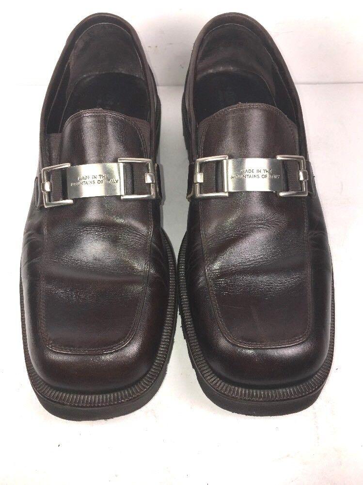 Donald Pliner  Horse Bit Dark Brown Loafers Mens Slip On shoes Size 7.5 M