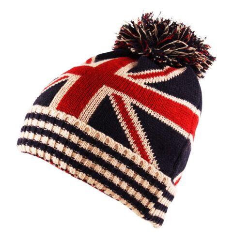 BRITAIN GB UNION JACK FLAG Beanie Scarf Fingerless Mittens Gloves Combo Set