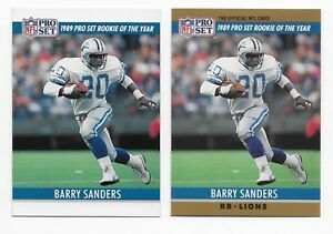 Details About Rare Unfinished Printing Error Barry Sanders Rookie Of The Year Detroit Lions