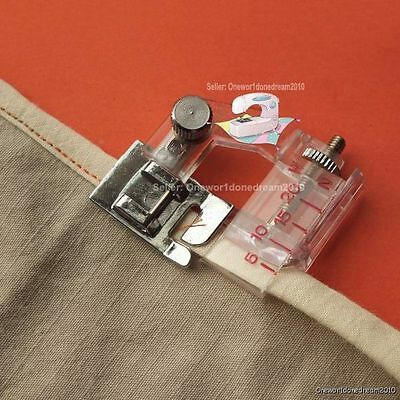 New Snap-on Adjustable Bias Binder Foot For Brother Singer Janome Sewing Machine