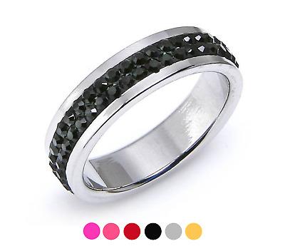 Ring Edelstahl mit Swarovski Elements | eBay