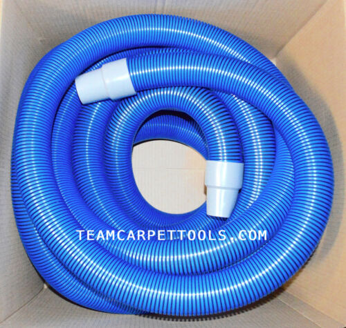 """Extractor Vacuum Hose 1.5/"""" with 1.5/"""" Wand Cuff Connectors Carpet Cleaning 25 FT"""