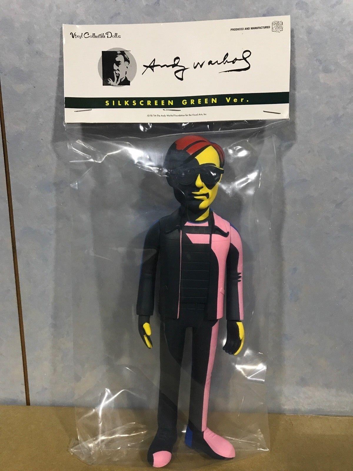 (NEW) Medicom VCD Vinyl Collectible Dolls  Andy Andy Andy Warhol Silkscreen Green VERSION 3d390d