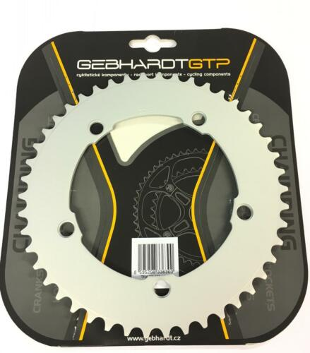 "Gebhardt 1//8/"" Track Chainring Silver 144mm BCD All Sizes"