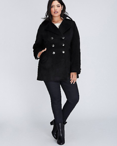 Lane-Bryant-Military-Double-Breasted-Coat-14-16-18-20-22-24-26-28-1x-2x-3x-4x