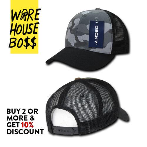 DECKY MENS TRUCKER HAT SNAPBACK MESH HATS BASEBALL CAP CAMO BDU MILITARY CAPS