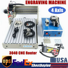 4 Axis 3040 Cnc Router Engraver 3d Milling Woodworking Engraving Machine Rc