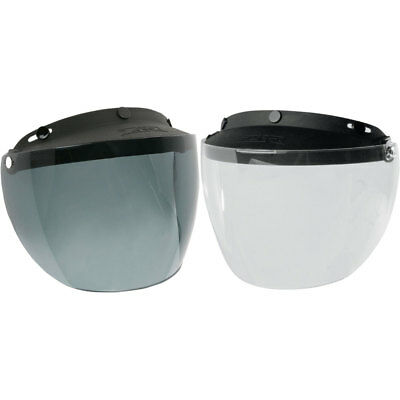 Jimmy and most other open-face helmets Z1R 3-Snap Shield//Visor for Z1R Drifter