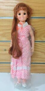 "VTG 1968/69 Ideal CRISSY Doll Original Pink Dress Panties Shoes 18.5"" NEW"