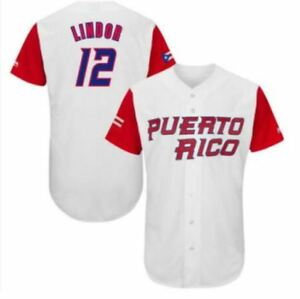 finest selection 97741 43c39 Details about PUERTO RICO Baseball Jersey #12 Francisco Lindor 2017 World  Baseball Classic