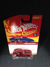 Hot Wheels Classics Series 1 MOC #12 of 25 1963 Corvette Red & Black [box ship]