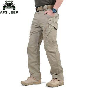 Para-Hombre-Pantalones-Tacticos-Exterior-Excursionismo-A-Prueba-De-Viento-Impermeable-Pantalones