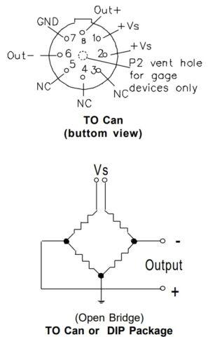 SCC Series SenSym TO-5 Package Pressure Sensor SCC300AH 0-300PSI