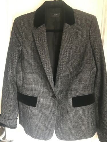 Joseph Uk Velvet Wales With Of Ladies 12 Prince Trim Blazer Black Grey TqgwTUWF