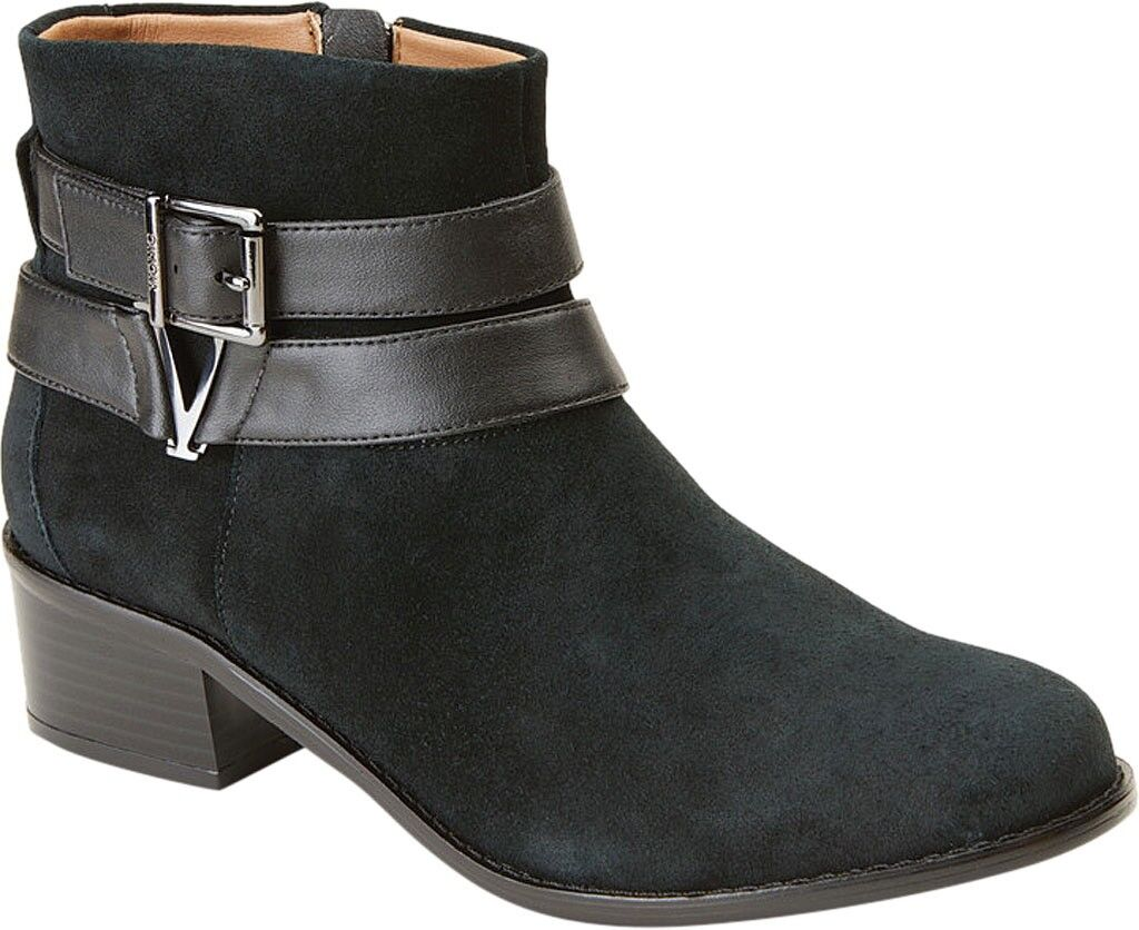 Vionic Mana Ankle Bootie Bootie Bootie (Women's Boots) in Black Suede - NEW 0ad80a