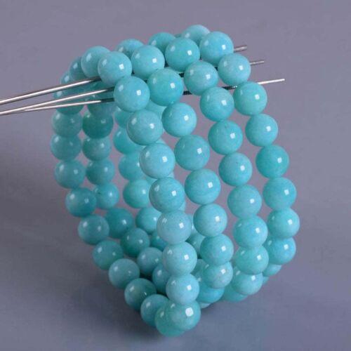 """8mm Fashion Brazilian Amazonite round gemstone beads stretchable bracelet 7.5/"""""""