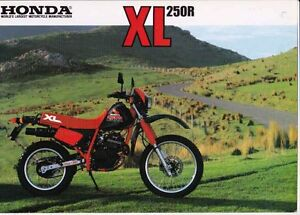 Image Is Loading Mid 1980s HONDA XL250R Dirt Bike 2p Japanese