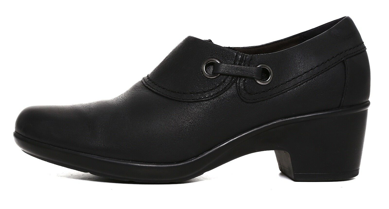 Clarks Genette Danby Leather Ankle Bootie Black Women Sz 9 9 9 M 2455 96e658