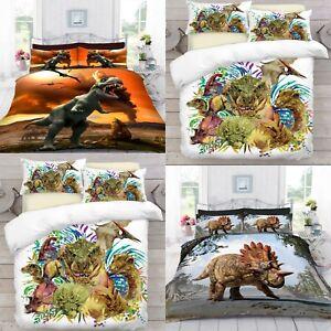 UK-Made-3D-Dinosaurio-digital-de-la-foto-Imprimir-Cubierta-Del-Edredon-Edredon-Con-Funda-De-Almohada