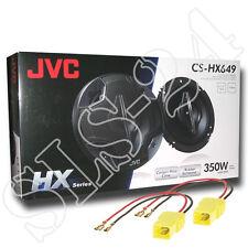 JVC CS-HX649 4-Wege Lautsprecher350W BOXEN + KFZ Adapterkabel Fiat Punto 188 Set