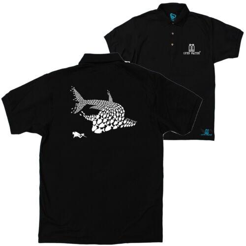 FB immersioni subacquee Top PESCE SQUALO Chaser Regali di Compleanno Natale Polo T-shirt