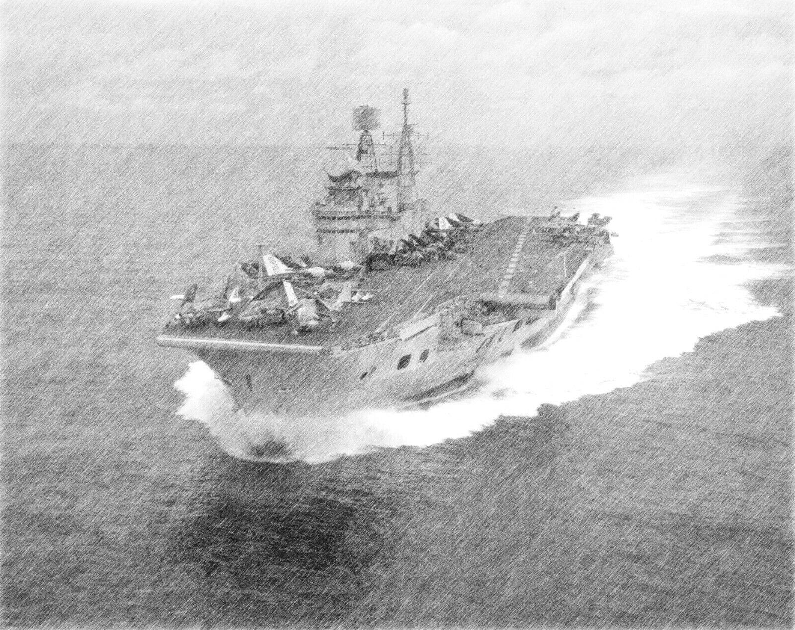Aircraft Carrier HMS EAGLE  Pencil Print