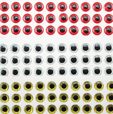 Lot 100pcs 3D Holographic Fishing Lure Eyes Stickers for Fly Tying Craft 3-9mm