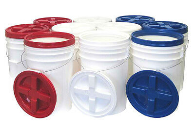 Nutristore 12 pack 6 Gallon Buckets w/ Gamma Seal Lids - Emergency Food Storage
