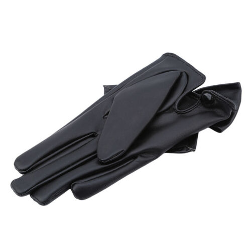 Women Luxury Soft PU Leather Butterfly Bow Wrist Gloves Driving Winter Warm OO