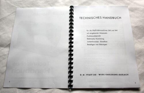 362-368 ! Technisches Handbuch Technikeranleitung für PFAFF 260 262-360