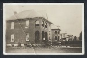 VINTAGE-CANADA-ONTARIO-BRUCE-STREET-IN-DURHAM-REAL-PHOTO-POSTCARD