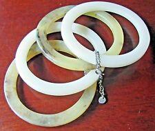 Mexx Designer Stacking Bangle Bracelets 4  Tan Brown Faux  Tortoise Shell